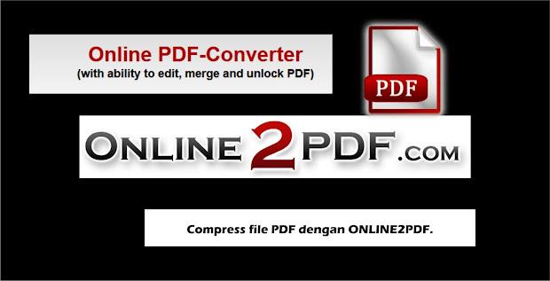 Cara Compress file PDF dengan ONLINE2PDF