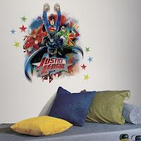Vinilos de super héroes para decorar la habitación de los niños LA LIGA DE LA JUSTICIA