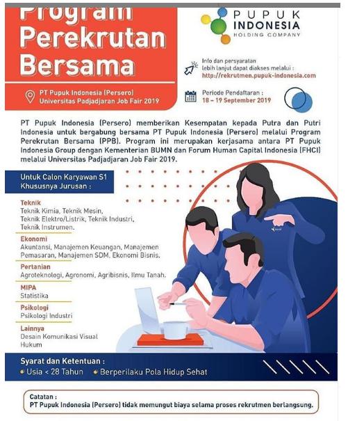Lowongan Kerja BUMN PT Pupuk Indonesia (Persero) September 2019