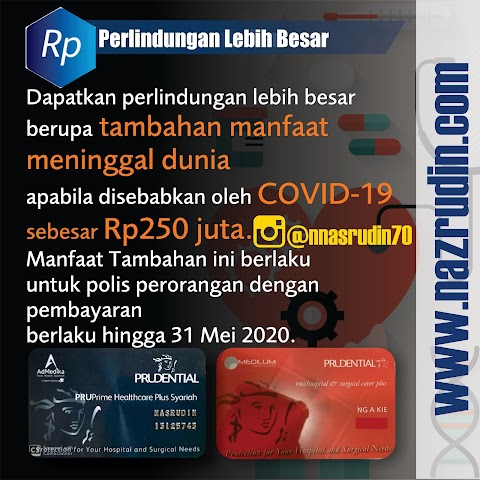 PRUDENTIAL COVER VIRUS CORONA COVID-19