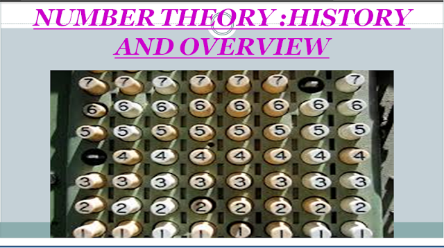 Number Theory - History and Overview
