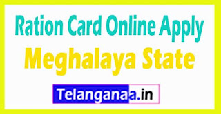 How to Apply Ration Card Online in Meghalaya State