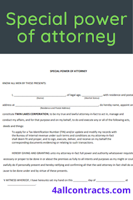 Sample special power of attorney philippines example