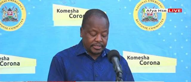 ministry of health, CS Mutahi Kagwe  photo