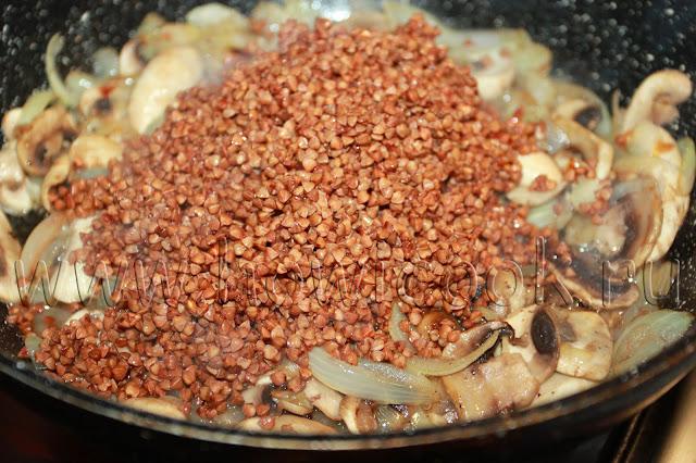 рецепт гречки с грибами с пошаговыми фото