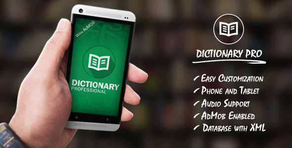 Download Free Dictionary Pro Template with AdMob