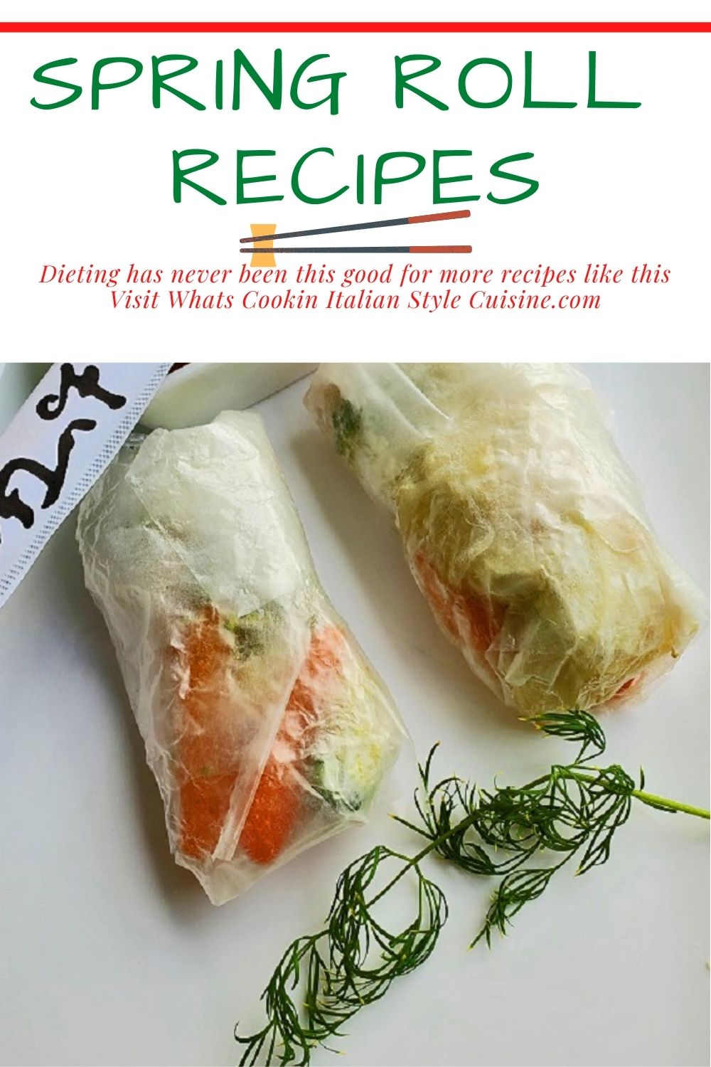 this is a pin for later how to make spring rolls