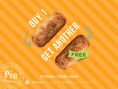 Pie Harbour Buy 1 Free 1 Friday Promo