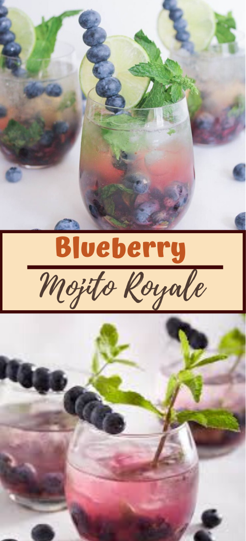 Blueberry Mojito Royale  #healthydrink #drinkrecipe #smoothiehealthy #cocktail