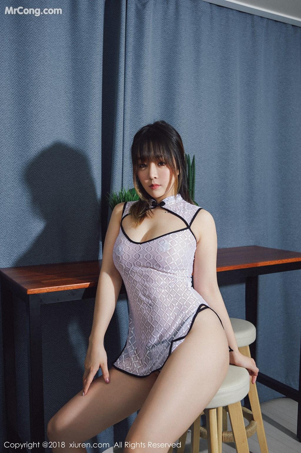 Image XIUREN-No.1127-Wang-Yu-Chun-MrCong.com-007 in post XIUREN No.1127: Người mẫu Wang Yu Chun (王雨纯) (41 ảnh)