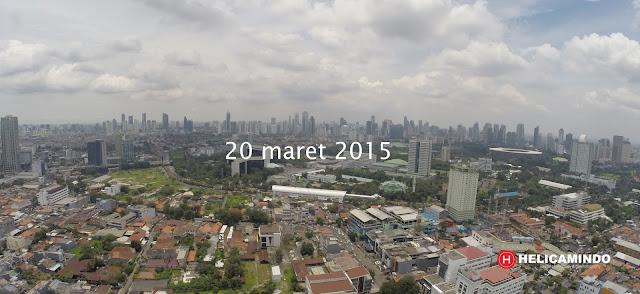 Foto Udara dari Kawasan Petamburan kearah Jakarta Selatan Tahun 2015