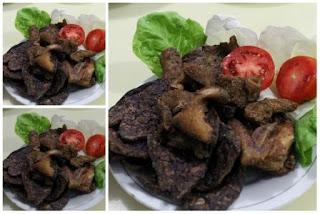 Masakan yg jarang terlihat dan Agak Berbeda Resep Paru Sapi goreng GARING Spesial