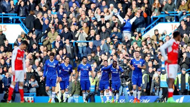 Chelsea passeou contra o Arsenal neste Sábado