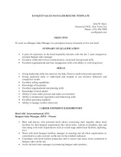Banquet Sales Manager Resume Examples