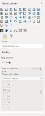 screenshot Power BI tooltip field options