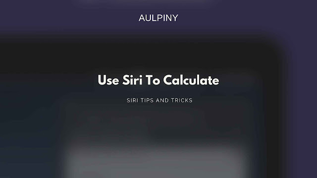 Making siri calculate