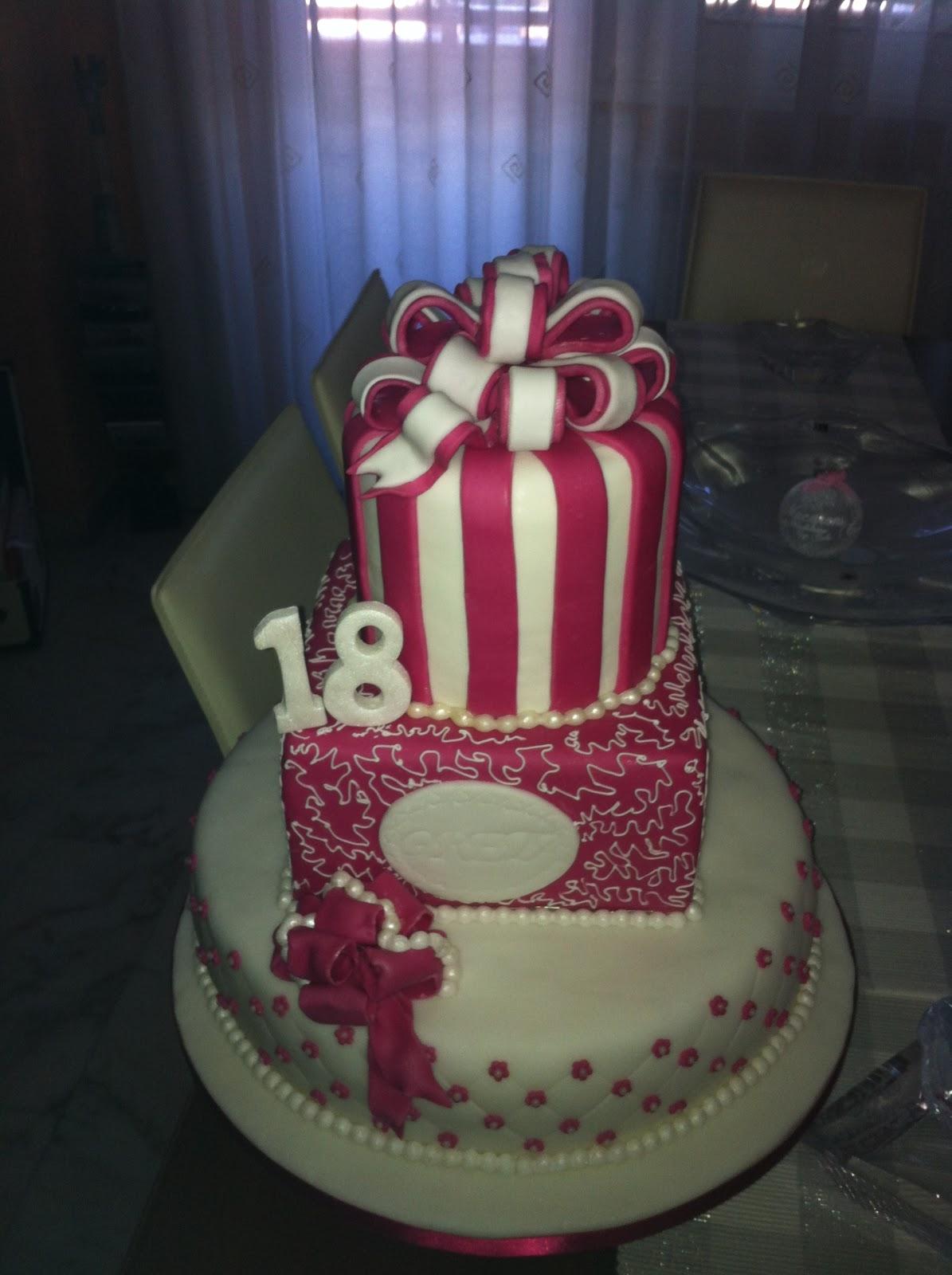 Molto SmoothlyCakeDesign: torta fiocchi smoothly per un diciottesimo  GY14