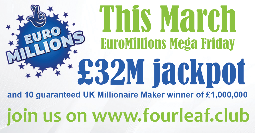 Lottery Syndicate for 25th March 2016 EuroMillions Mega Friday