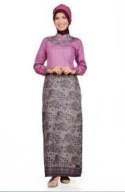 Dress Panjang Batik Kerja Kombinasi Polos