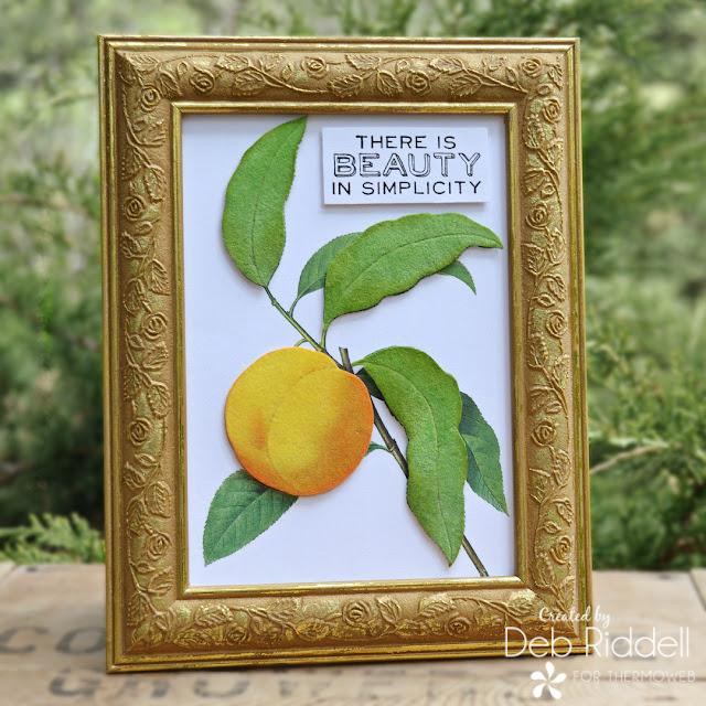 Simply Peachy Frame With Deco Foil Flock