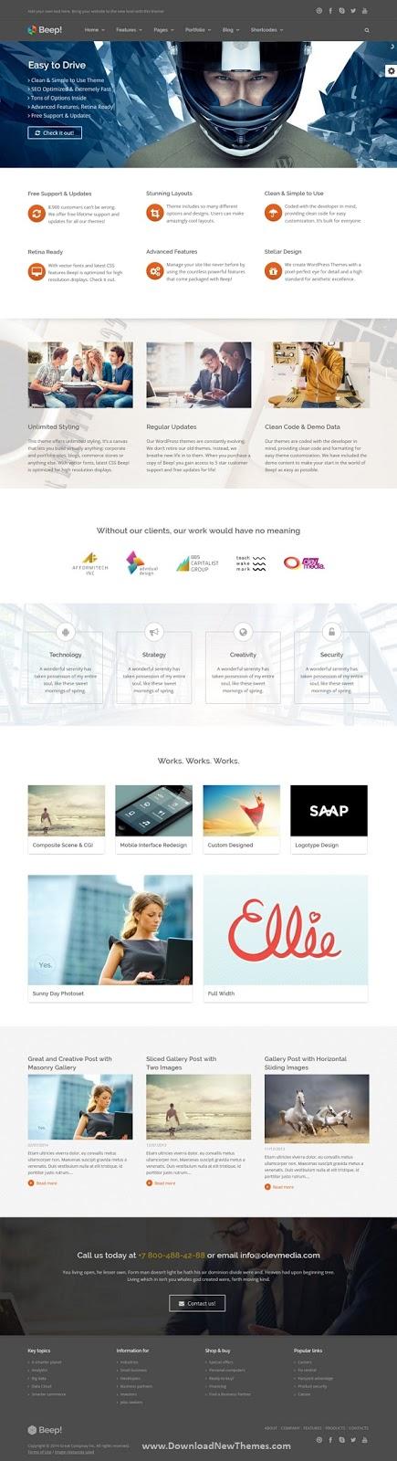 Responsive Multi-Purpose Wordpress Theme