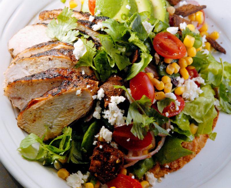 Crunchy Chicken Fajita Salads - Gluten Free
