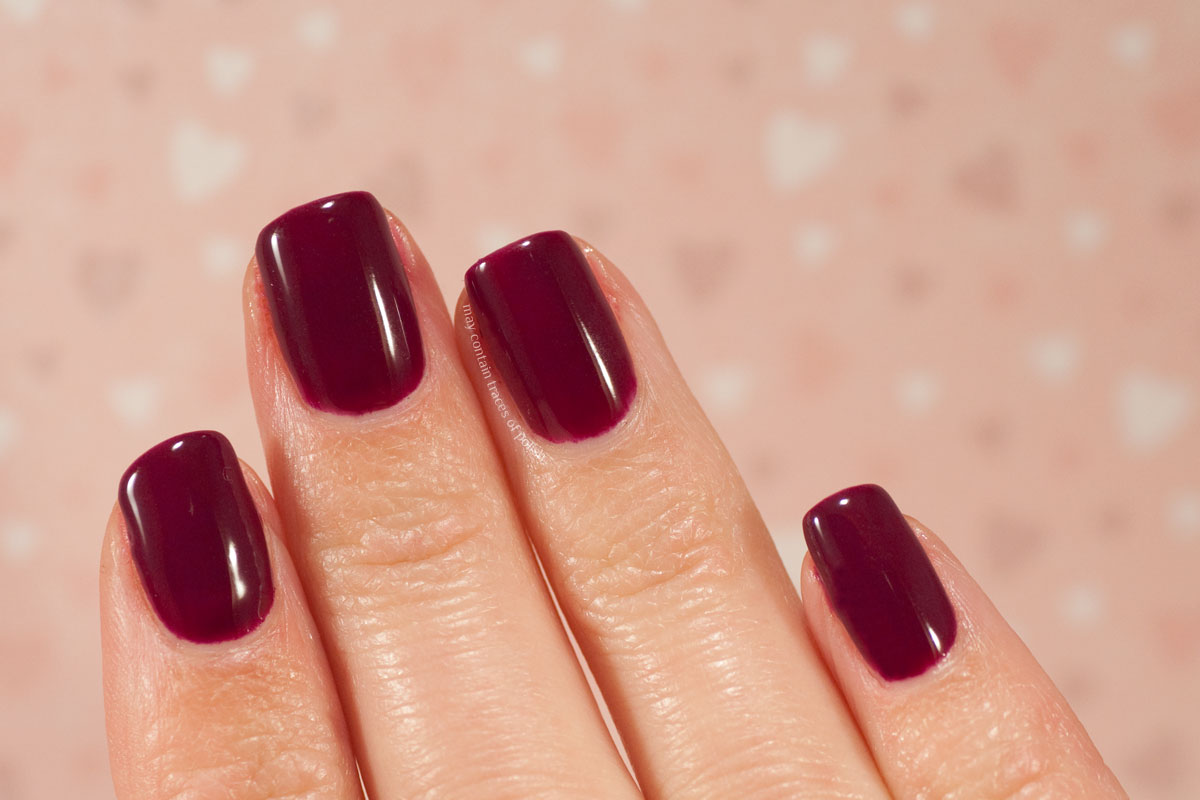 Pink Gellac Boudoir Charm Collection Swatches - 307 Maroon Purple