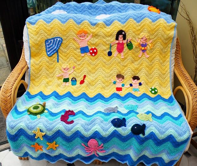 Beach Theme Blanket