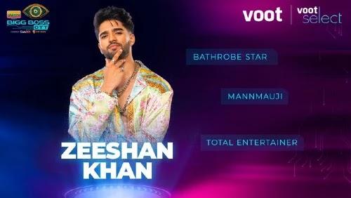 Bigg Boss OTT Contestants zeeshan khan