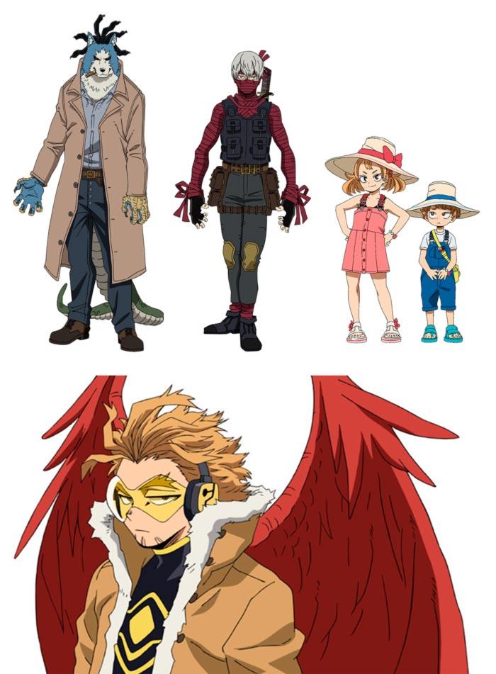 My Hero Academia - Heroes: Rising anime - personajes