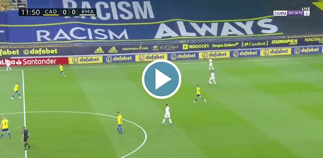 Cádiz vs Real Madrid Live Score
