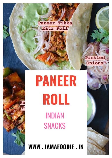 Best Paneer Tikka Kati Roll | Paneer Roll
