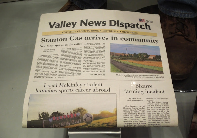 Promised Land local newspaper prop