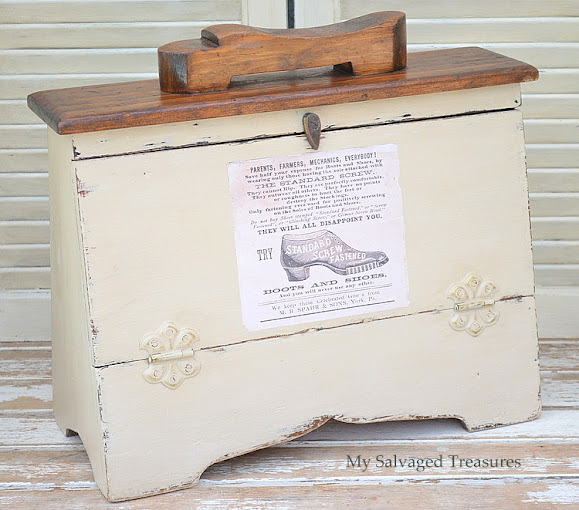 trash to treasure shoe shine box update