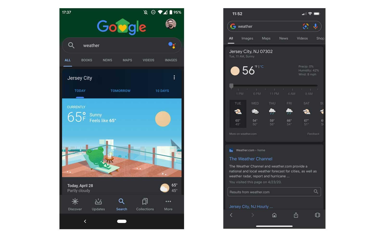 Ricerca Google in dark mode disponibile su Android e iOS