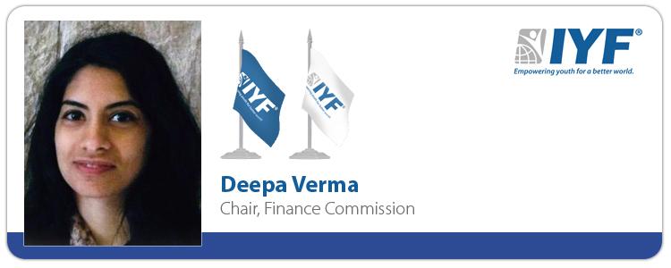 Deepa Verma, IYF Chair of Finance Commission
