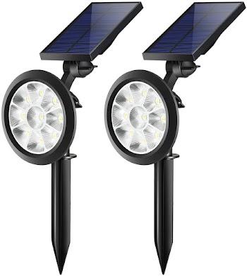 50% off TRODEEM Solar Landscape Spotlights (Cold & Warm White Adjustable)