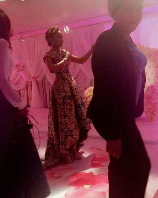 Zahra Buhari dances at her bridal shower