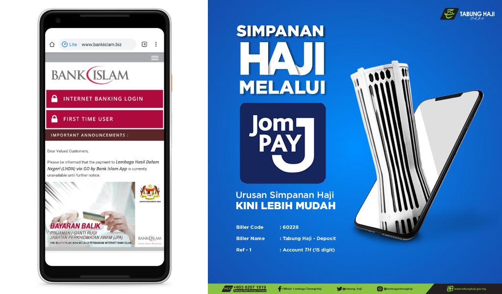 Cara Deposit Wang Ke Tabung Haji Menggunakan JomPay Melalui Bank Islam