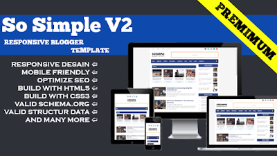 So Simple v2 Blogger Template With Thumbnail Premium
