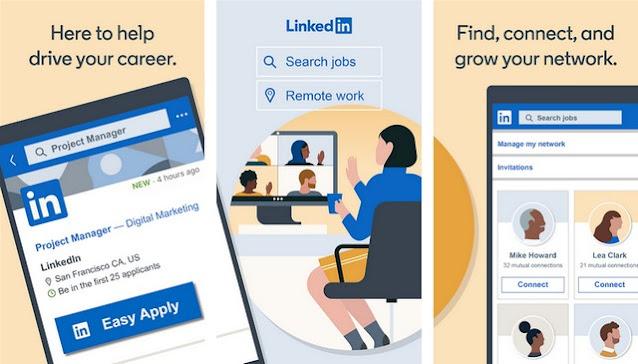 LinkedIn- أفضل تطبيقات التواصل الاجتماعي للاندرويد