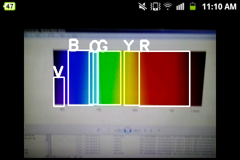 OpenCV Android Java Color Detection - Yellow and Blue