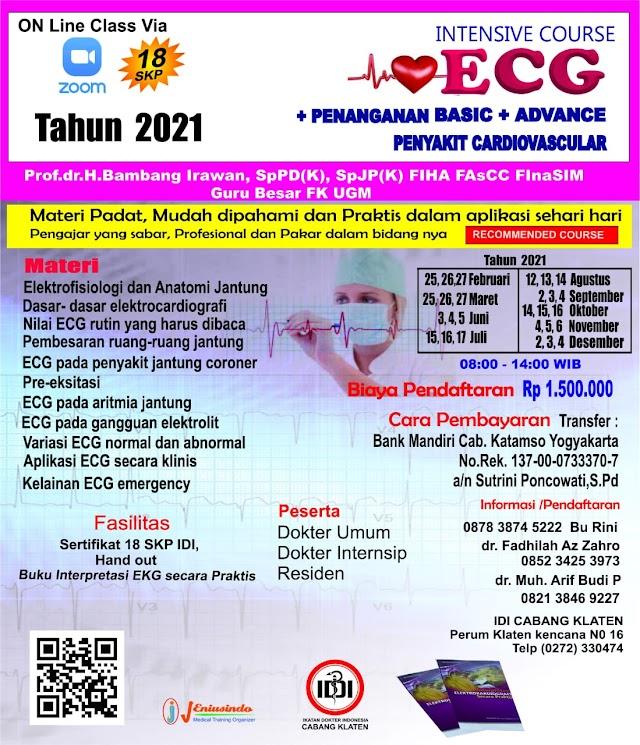 Pelatihan EKG (Masih Bisa Mendaftar 25,26,27 Maret 2021)