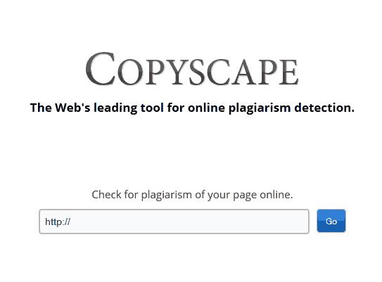 Copy scape online plagiarism detection
