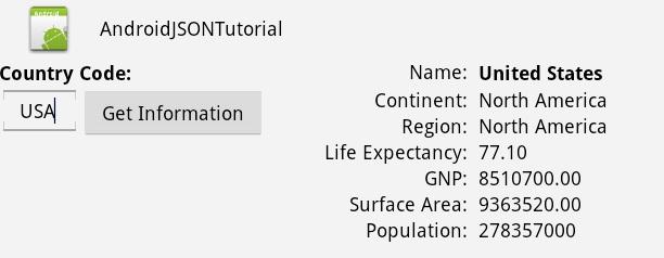 Android JSON Web Service Tutorial using Java Servlet and MySQL database