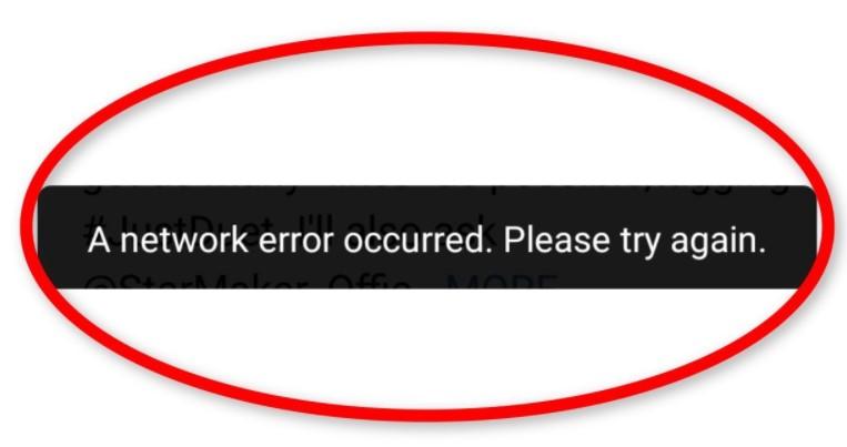 Starmaker Network Error