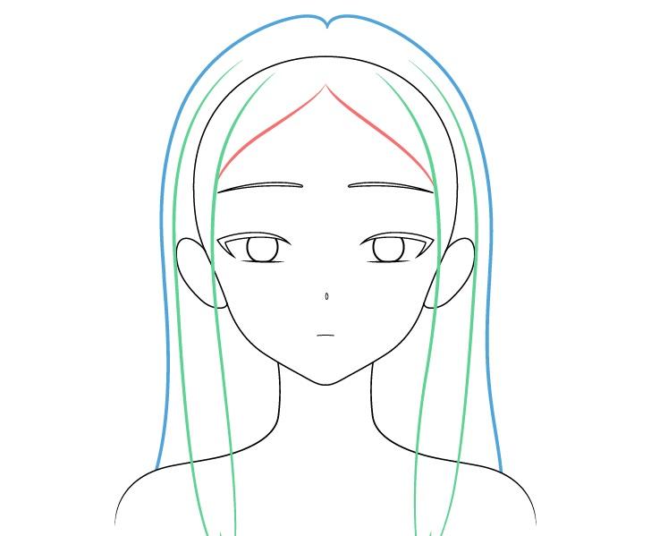 Gambar rambut gadis anime cantik