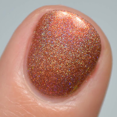 cinnamon holographic nail polish swatch