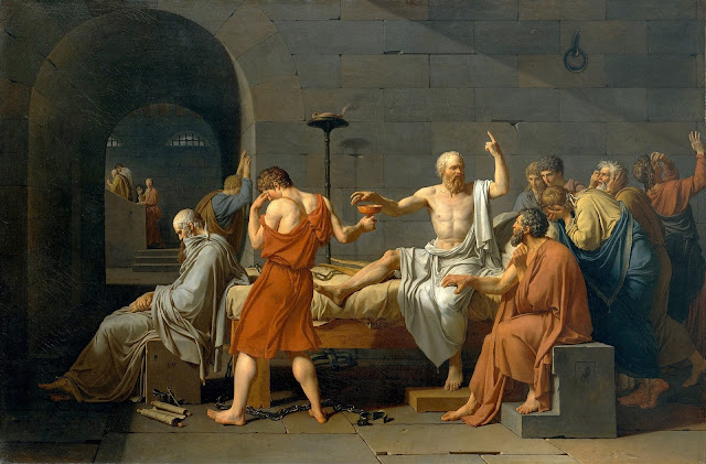 Jacques-Louis David The Death of Socrates, 1787