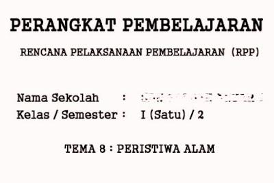 RPP Tematik Kelas 1 Semester 2 Kurikulum 2013